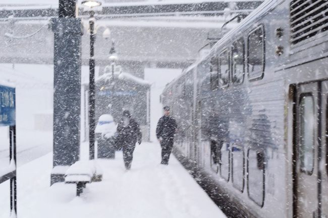 Snow Winter Cold Temperature Snowing Real People Walking Transportation Chicago City Life Frozen The Street Photographer - 2017 EyeEm Awards Neighborhood Map Train Station Train Let's Go. Together. Shades Of Winter
