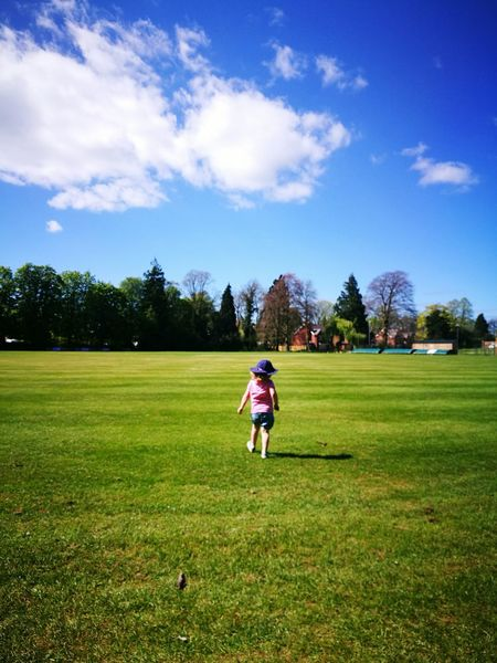 Grass Sport One Person Leisure Activity Full Length People Neice Shropshire Family Joy Of Children Sports Clothing Outdoors Green Color Playing Standing Tree