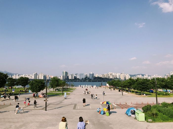 AirBnB Food Travel Beautiful Color Seoul I Seoul U River Water Light Nice Day Large Group Of People Real People Built Structure Men Beach Architecture Tourism