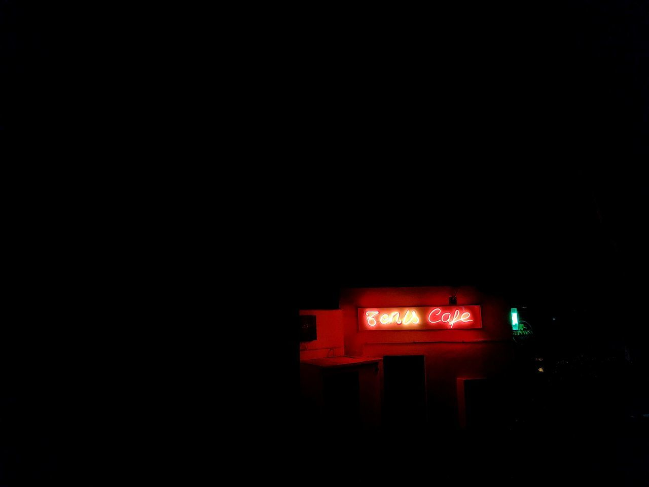copy space, night, red, illuminated, no people, low angle view, outdoors, architecture