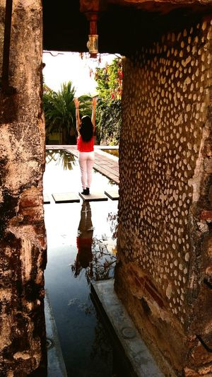 Life is full of reflections!!!! Water Reflection Old Buildings Beutiful  Sanagustin Oaxaca México  Mexico Travel Museum Art