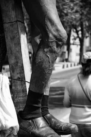 Close-up Human Body Part Human Leg Los 400 Pueblos Low Section Men México City Downtown Political Protester Protestors Real People Standing 400 Pueblos