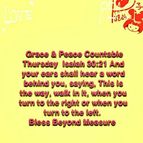 Grace & Peace Countable Thursday