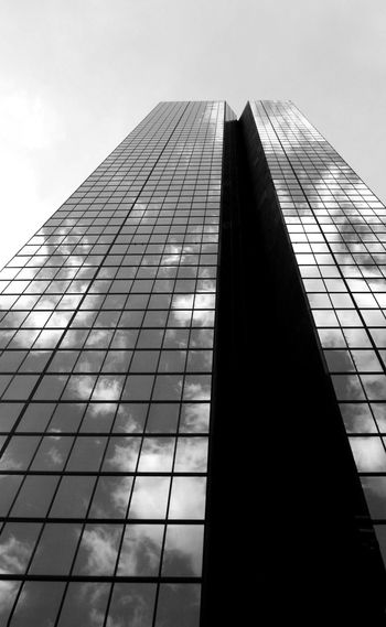 Business Cloud Cloud Reflections Office Reflection Architecture Blackandwhite Building Exterior Built Structure Corporate Business Low Angle View Modern Office Building Sky Skyscraper Tall Tower