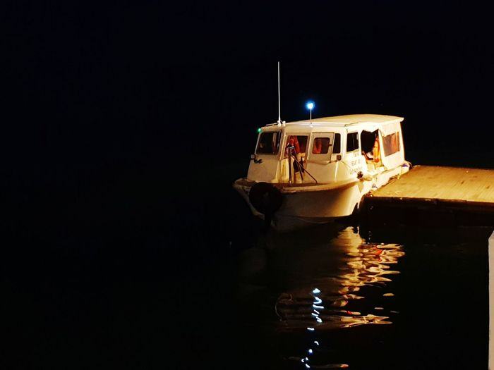 Nautical Vessel Transportation Water Night No People Outdoors Sky Nightlife Transportation kota kinabalu