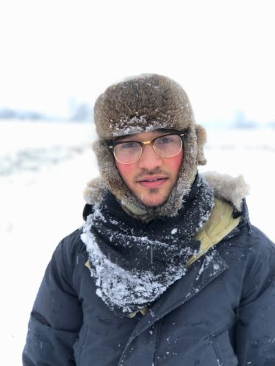 Winter Snow Cold Temperature Warm Clothing Only Men One Man Only Portrait Snowing Outdoors Weather