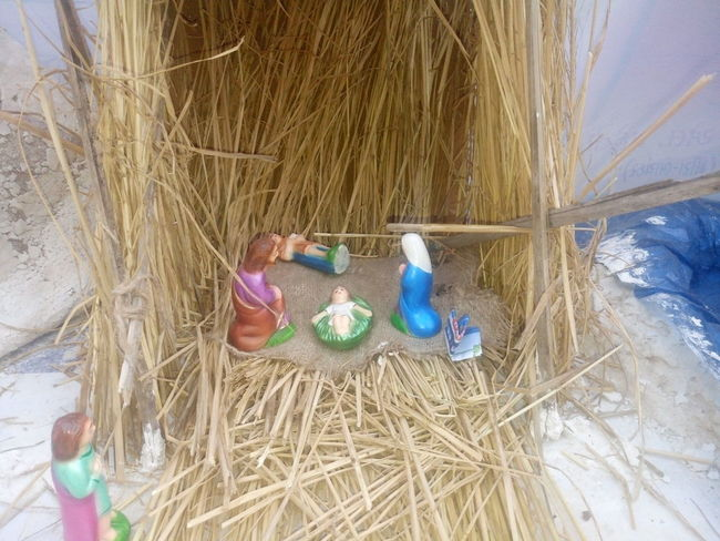 Agriculture Bale  Christmas Collection Crib Day Hay Haystack Merry Christmas Merry Christmas Eve! Merry Christmas! Multi Colored Nativity Church Nativity Figurine Nativity Scene Nature One Person Outdoors People Traveling Home For The Holidays Working