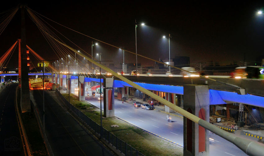 Cities At Night Azadi Interchange Lahore Azadi Chowl Interchange  Flyover First Eyeem Photo