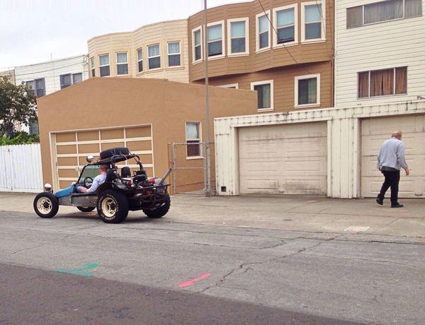 Taking Photos Dune Buggy SF Vehicle