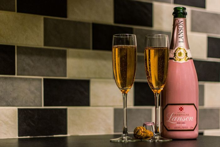 Champagne Pink Champagne Luxury Alcohol Close-up Day Wine Moments