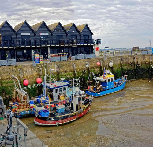 low tide whitstable harbour kent. E.U. Fishing Harbour Kent Travel Whitstable Fishing Fishing Industry Low Tide Tourism