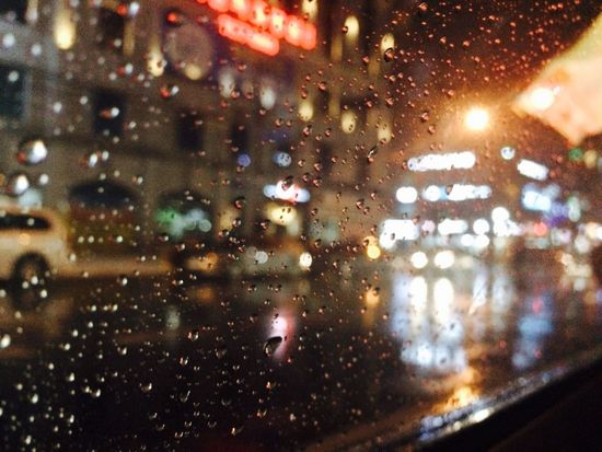Rain Window Car