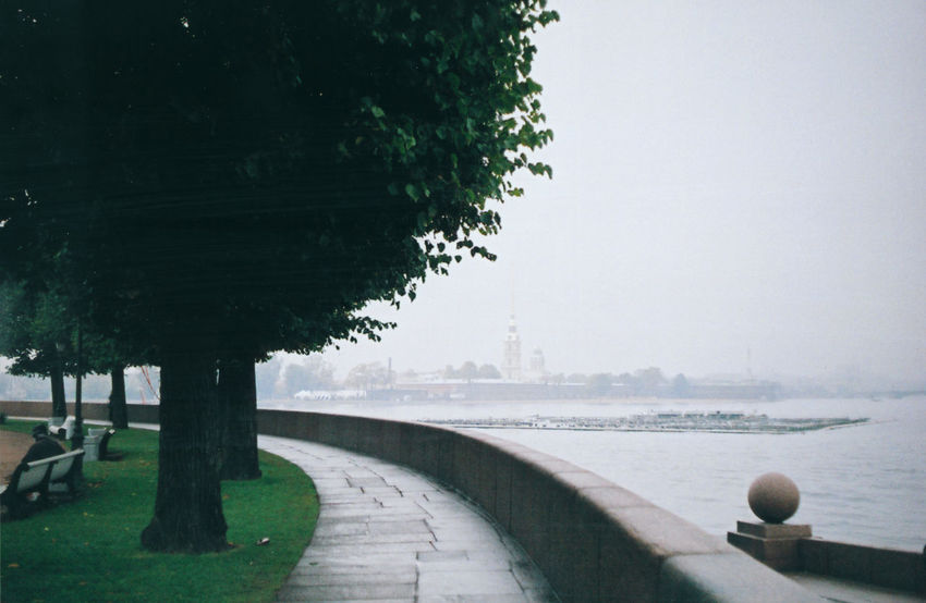 Beauty In Nature Blurred Perspective Day Diminishing Perspective Embankment Empty Film Photography Footpath No People Outdoors Quay Rain Rainy Day Saint Petersburg Scenics Sky The Peter And Paul Fortress The Spit Of Vasilyevsky Island The Way Forward Tranquil Scene Tranquility Travel Destinations Vanishing Point The Architect - 2016 EyeEm Awards Water