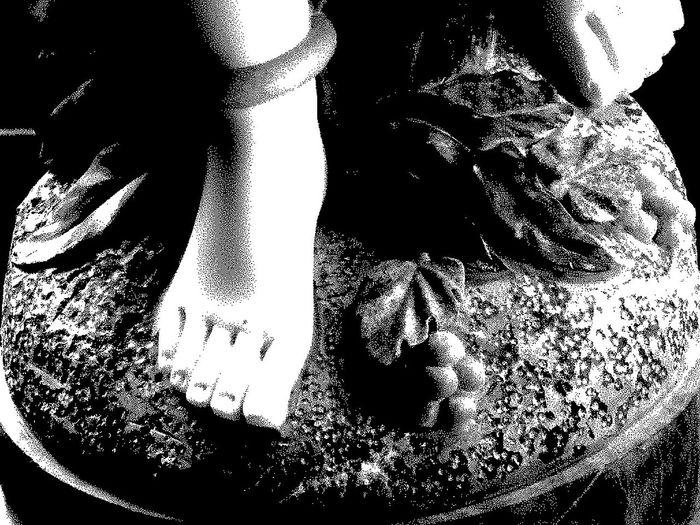 Black And White Art Em Pedra