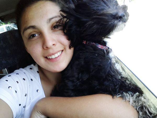 Con mi perrito..