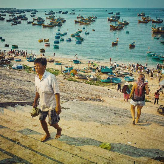 Vietnam Muine Beach FishingVillage Scenery