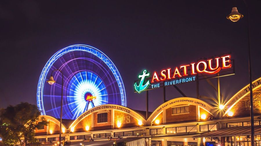 Thailand Harbor Traveling Culture No People Tourism Night Outdoors Market Building Exterior Low Angle View Travel Destinations Text House Asiatique The Riverfront Asiatique The Riverfront EyeEm Best Shots EyeEmBestPics The Traveler - 2018 EyeEm Awards The Architect - 2018 EyeEm Awards