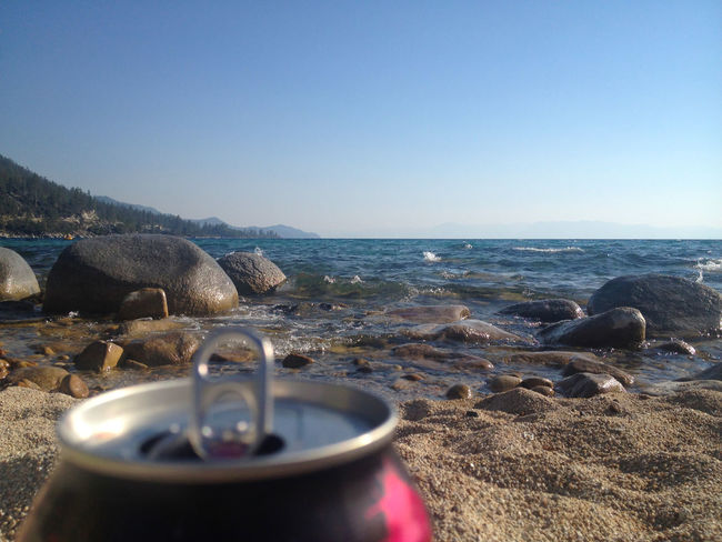 Having a drink at Hidden Beach, just outside of Incline Village on the North Shore of Lake Tahoe. Beach Beach Day Beach Life Beach Photography Beautiful Day Blue Sky Clear Sky Have A Drink Hidden Beach Lake Tahoe Nevada Outdoors Relaxing Moments Sand Sierra Nevada Sierra Nevada Mountains