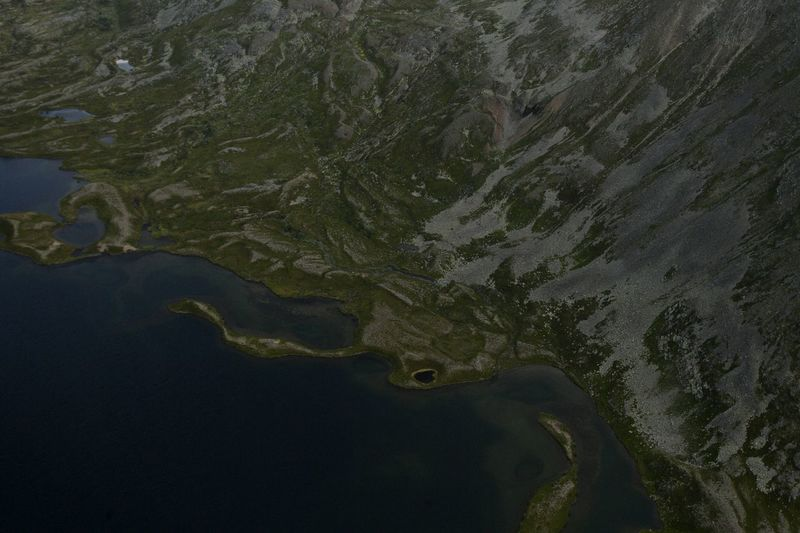 Coastline seen from above