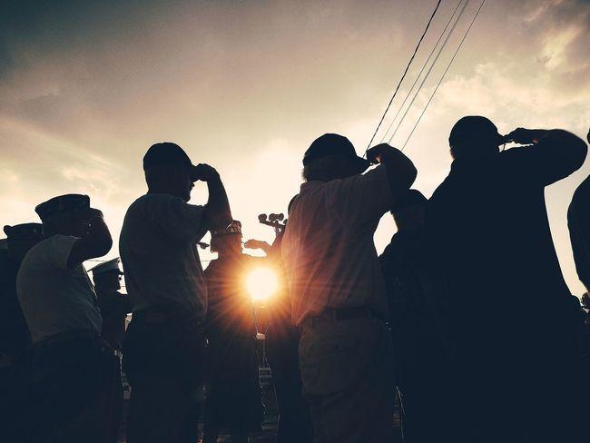 Newjerseystatefair Veterans Salute Sunset Silhouettes
