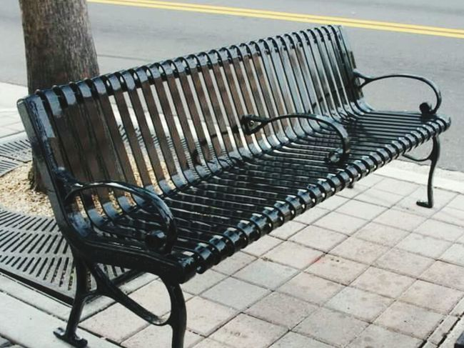 Outdoors Chair Ybor City Vacations Streetphotography Street Photography Walking Around The City  Leisure Time Bench Sunny Day 🌞 Life Style Architecture Lifestyles Yborcity Ybor City