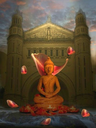 From My Archives 2008 Playing With Photoshop Creative Art Buddha ChurchChurch Havingfun Enyoing Life