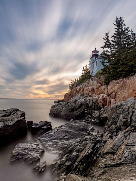 Bass harbor light in Maine at Sunset Lighthouse Bass Harbor Lighthouse Sunset Sunrise Maine Acadia National Park Sky Sea Water Cloud - Sky Rock Rock - Object Built Structure Building Exterior Solid Scenics - Nature Land Horizon Over Water Beach Nature Guidance Architecture Beauty In Nature Lighthouse Horizon Building EyeEmNewHere