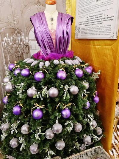 Purple Celebration Indoors  No People Christmas Christmas Decoration Day Close-up Decorating Christmas Market Christmastime Huawei P9 Photos Indoors  Arts Culture And Entertainment Dress Dress