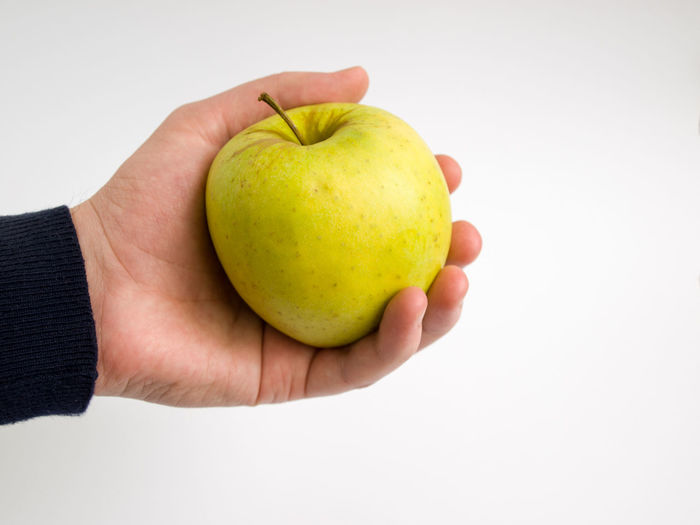 apple in palm