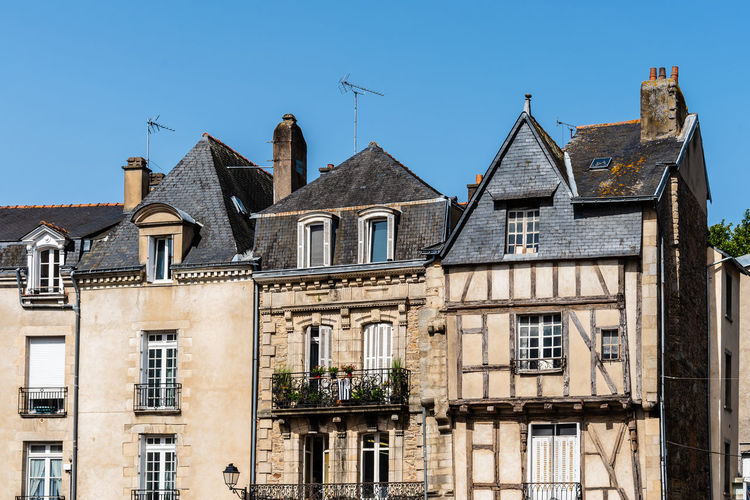 Timber-framed medieval house in historic centre of vannes, brittany, france