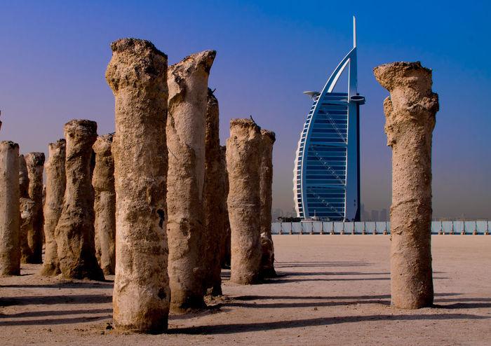 Archival Burj Al Arab برج العرب Burj El Arab Burjalarab BurjAlArab Dubai Travelling Burjalarabdubai Dubai❤ Eye4photography  EyeEm Gallery No People Outdoors Temples