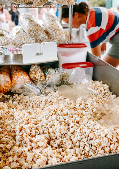 Close-up of food for sale in market