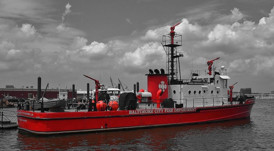 OlympusPEN Color Splash Fire Department Boats