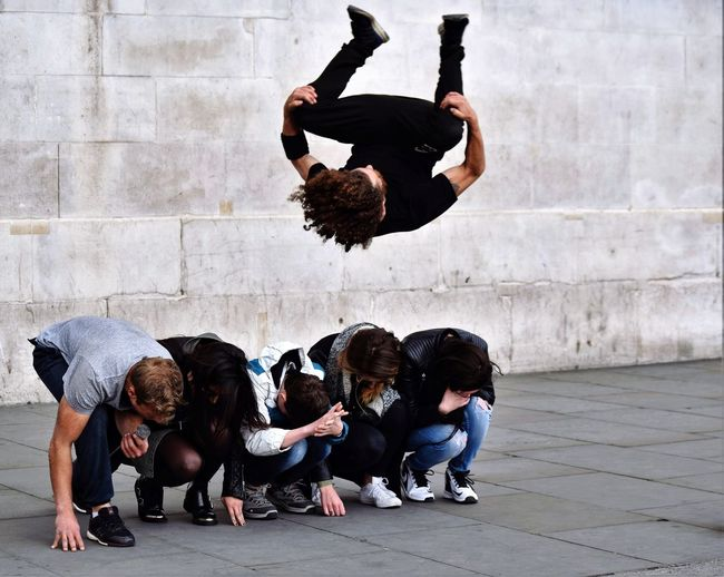 Flying overhead Hello World Check This Out That's Me Taking Photos LONDON❤ Peopletogether Bestsellers Street Photography Street Entertainment Acrobatics  Bestoftheday Fastshutterspeed Bestshot London Calling London Awesome Performance