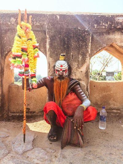 Real People Multi Colored Traditional Clothing One Person Portrait People India Orchha Hermit