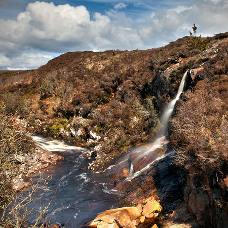 Slow shutter waterfalls in the sun Clouds Erradale Gairloch Highlands Highlands Of Scotland Landscape No People North Erradale River Rocks Scotland Scottish Highlands Sky Slow Shutter Torridon Waterfall Waterfalls West Coast West Coast Scotland Wester Ross