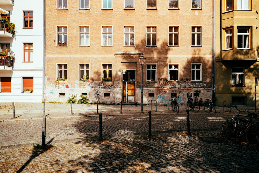 Mitte district Apartment Buildings Shadows & Lights The Street Photographer - 2018 EyeEm Awards Apartment Apartments Architecture Building Building Exterior Built Structure City City Life Day Footpath Nature No People Residential Building Residential District Residential Structure Road Shadow Sidewalk Street Sunlight Transportation Window