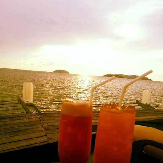 Sunsetbar Sunset Island Drinks relax chillax life kotakinabalu sabah instalife