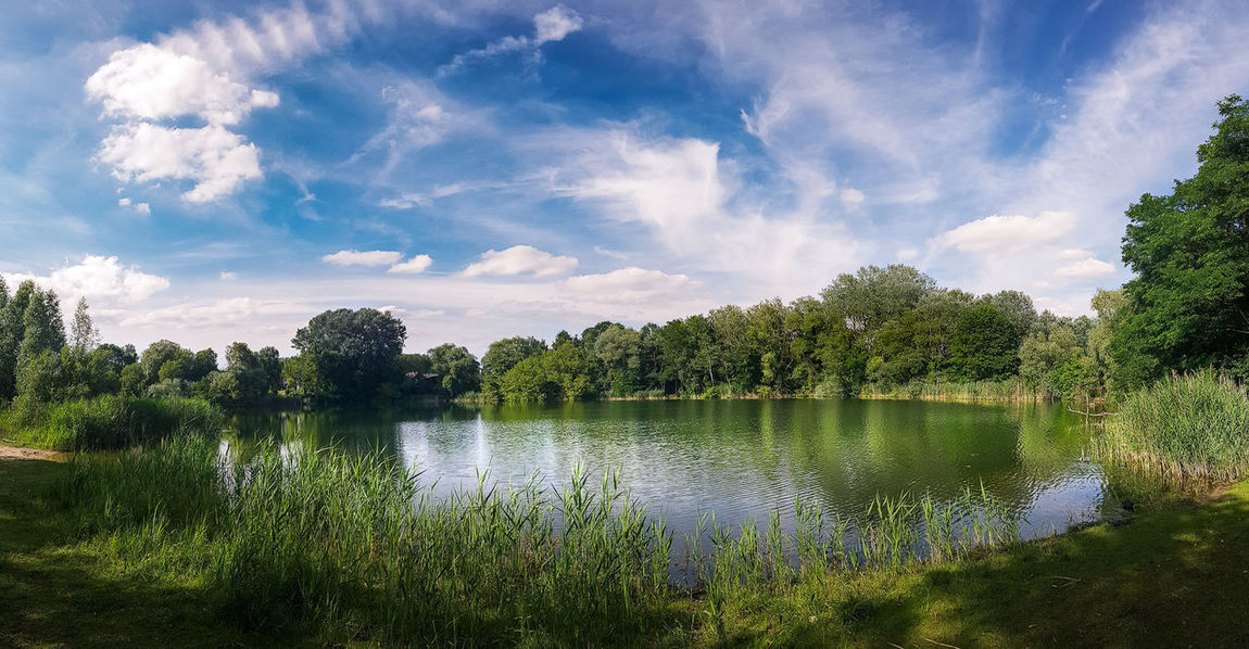 Beauty In Nature Day Grass Growth Holiday Lake Landscape Nature No People Outdoors Reflection Scenics Sky Tranquility Tree Water