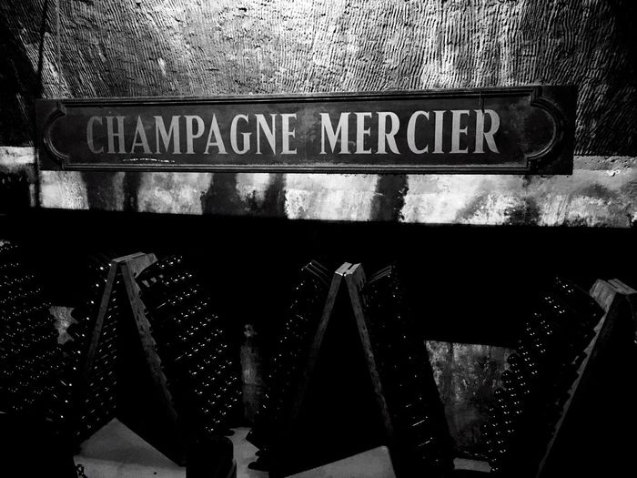 Wine Moments Champagne Champagne Cellar Champagne Caves Mercier Champagne Epernay France Underground Black And White Champagne Bottles