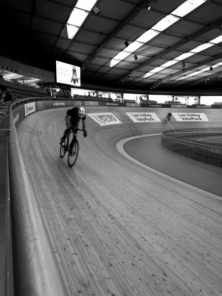 Cyclist at Lee Valley Velo Park Cycling Sports Race Bicycle Riding Sport Men Real People Motion Competitive Sport One Person Sports Track Indoors  Blur Blackandwhite Black And White Blackandwhite Photography Cyclist Cyclephotography Cycle Racing Cyclingphotos Velodrome Velodrome, Time Trial, Racing, Competing, Fast, Push, Ride Hard, Velopark Time Trial Racingbike