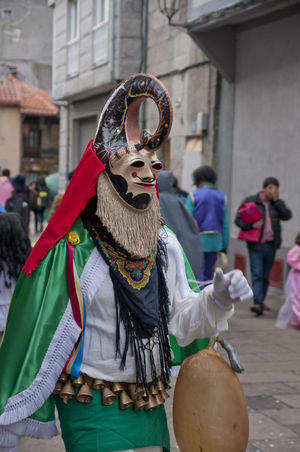 xinzo de limia carnival Xinzo De Limia Architecture Building Exterior Built Structure Carnibal Du Loup Clown Costume Day Focus On Foreground Incidental People Leisure Activity Lifestyles Men One Person Outdoors Performance Real People Women Xinzo De Limia Carnival