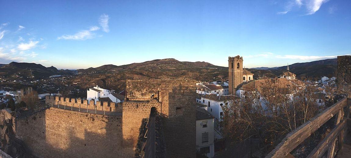 Priego de Córdoba desde el castillo Copy Space Nature Sunlight Outdoors No People Mountain Range Blue Beauty In Nature Day Sky Mountain Priego De Cordoba Andalucía SPAIN Castle Rural Town Turism