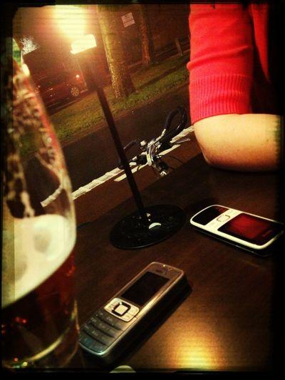 Afterwork drinks met de wachtmeiden en mezelve.. #oncall