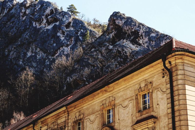 Svatyjanpodskalou Architecture Built Structure Building Exterior Low Angle View No People Outdoors Mountain (null)Sky Canonphotography Czech Republic Beauty In Nature