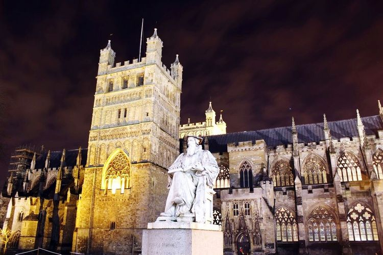 Exeter Cathedral at night Exeter First Eyeem Photo
