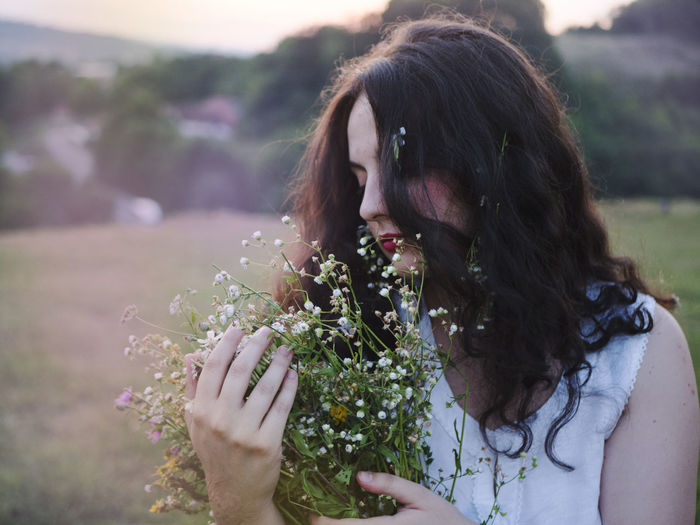 Green Love Nature Pink Romantic Serbia Travel Beauty Close-up Day Field Flower Freshness Growth In Love Nature One Person Outdoors People Plant Real People Village Women Young Adult Young Women