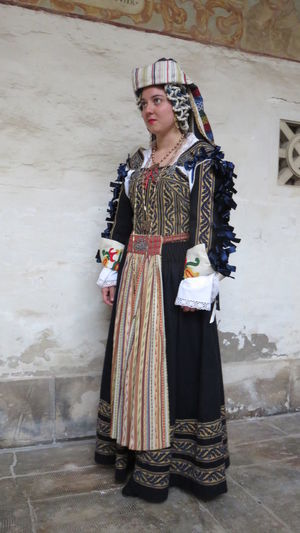 Ancient Italian typical costume wedding Abruzzo - Italy Ancient Celebration Costume Culture Scanno Tradition Traditional Typical Wedding Women
