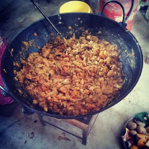 The Labra (Bengali Mix Veg). Almost Ready. Foodporn India Viswakarmapuja Feast kitchen instaguwahati instaassam instabangla puja celebration religious tumblr yummy veggies spicy masala love igers android lunch
