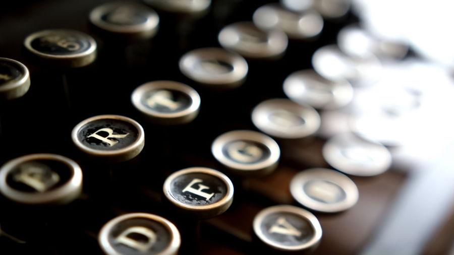 Detail shot of typewriter